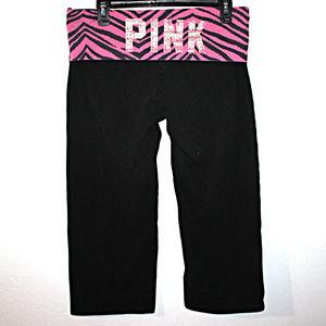 PINK LARGE Capri Yoga Pants